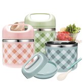 Vacuum Portable Stainless Steel Lunch Box Picnic Thermos Food Storage Container