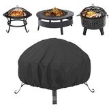85x40cm Round Fire Pit Cover Waterproof UV Protector BBQ Grill Cover Outdoor Camping Travel