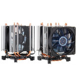 Ventilador de enfriamiento de CPU retroiluminado azul de 3 pines Cobre tubos para AMD para Intel 1155 1156