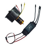 QX-MOTOR 64mm EDF with 80A ESC Combo 12 Blade 2822 3500KV/3800KV/4300KV 4S-6S Motor Brushless Duct Fan Composite Material Housing For RC Airplane Drone Parts