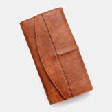 Unisex Faux Leather Retro Trifold Hand-carry Multi-slot 5.5 Inch Phone Clutch Bag Purse Wallet