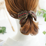 Vintage Ribbon Bow Banana Clip Temperament Knotted Hairpin