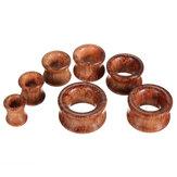 8mm-20mm 1pc tunnels en bois oreille jauges bouchons expander creux