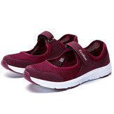 Lässige Mesh-Licht Soft Sole Breathable Outdoor Sport Flats