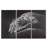 3Pcs HD Leopard Canvas Painting Wall Decorative Animal Print Art Pictures Frameless Wall Hanging Decorations for Home Office