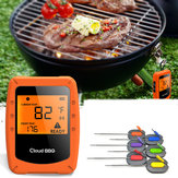 6 Probes Wireless Smart BBQ Thermometer Oven Meat Food bluetooth Wifi For IOS Android