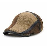 Unisex gebreide baret muts breien baret caps verstelbare papier jongen krantenverkoper cabbie gentleman hoed