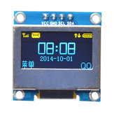 0.96 Inch 4Pin Blue Yellow IIC I2C OLED Display With Screen Protection Cover Geekcreit for Arduino - products that work with official Arduino boards