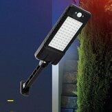24W 60LED Solar dimmer Wall Street Light à prova d'água PIR Motion Sensor lâmpada de jardim exterior