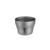 Naturehike 45ml Titanium Cup Ultralight Double Wall Chinese Kongfu Tea Cup for Outdoor Camping Hiking Picnic