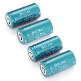 8PCS MECO 3.7v 1200mAh CR123A / 16340 Li-ion Batterie rechargeable