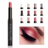 FOCALLURE 12 Colors Glitter Eye Shadow Pencil