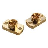 2Pcs Brass T8 Lead Болт Гайка Шаг 2 мм для Stepper Мотор Часть 3D-принтера