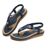 SOCOFY Women Knitted Casual Beach Sandals