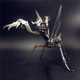Steel Warcraft 3D Puzzle DIY Assembly Mantis Toys DIY Stainless Steel Model Building Decor 24*9*13.5cm