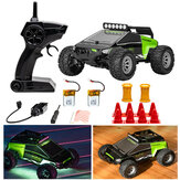S638 with 2/3 Battery 1/32 2.4G 2WD Mini RC Car Dual Motor Off-Road Vehicles Kids Child Toys LED Light Model