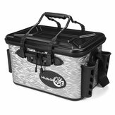 28L Waterproof Fishing Live Bait Cooler Insulated Dry Box Foldable with Air Pump Shoulder Strap
