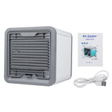7 Colors LED Mini Air Conditioner Portable Personal Space Air Cooler Cooling Fan