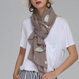 Women Unique Chiffon Printting Scarves Wave Point Shawl