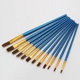 12 قطعة فرشاة الرسم لؤلؤة الأزرق فرشاة الرسم المائية الاكريليك فرشاة مجموعة أدوات الرسم الزيتي المهنية الفن اللوازم
