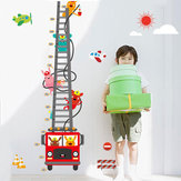 1 Pz Carino Camion Altezza Misura Wall Sticker Murale Decalcomanie Home Room Decoration Child Growth Chart Giocattoli