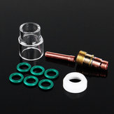 10Pcs 1.6mm 1/16inch TIG Welding Torch Stubby Gas Lens #12 Pyrex Cup Kit for WP-17/18