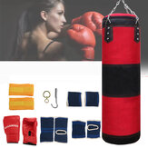 Heavy Boxing Punching Bag Training Kicking Martial Arts Exercise Sport with Foot Hand Ankle Pads Gloves