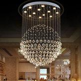 ليد الحديثة الفضة كروم الاكريليك الكريستال ضوء السقف قلادة ضوء الثريا ديكور المنزل