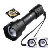 UltraFire T20 10W IR Flashlight 850nm 940nm Zoomable Torch LED Infrared Night Vision Tactical Fill Lamp Hunting
