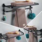 59cm Punched/Punch-free Space Aluminum Towel Holder 90° Folding Easy Installation Towel Rack Durable Towel Shelf