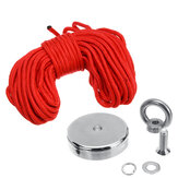 D42mm 80KG Neodymium Magnet Salvage 304 Steel Recoverry Fishing Kit with 20M Rope for Home Safety
