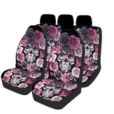 1/2/7PCS Print Universal Front Car Seat Cover Steering Wheel Cover Fit Seat Cushions