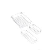 12Pcs Clear Cosmetic Organizzatore Trucco Cassettiera Portagioielli Set da cucina