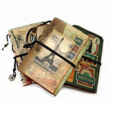 90 páginas Nova Viagem Vintage Retro Diário Bloco de Notas Caderno Cordão Encadernado Jornal Couro 180 * 124 mm Material de papelaria