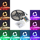 5M 5050 RGB Wasserdichte 300 LED Streifen Licht 12V DC 24 Schlüssel IR Kontrolle