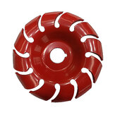 90mm 12 Teeth Wood Carving Disc 18mm Bore Grinder Shaping Disc for 100 115 Angle Grinder