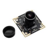 136 ° 2 milhões Pixel Módulo de câmera USB 1080P HD para reconhecimento facial com microfone 2MP módulo de câmera grande angular