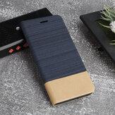 Bakeey Canvas Pattern Flip ze stojakiem na karty, odporny na wstrząsy PU Leather Full Cover Futerał ochronny do Xiaomi Redmi 9C nieoryginalny