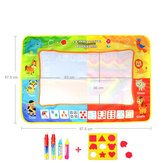 88*58cm Infant Child Four-Color Water Canvas Large Graffiti Drawing Mat Enlightenment Educational Toys