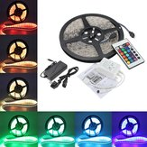 5M 5050 RGB Waterproof 300 LED Strip Light DC12V + 24 Key Controller IR + 5A Alimentatore UE