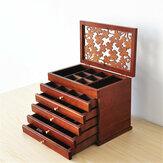 Pudełka drewniane do przechowywania biżuterii retro