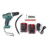 Cordless Brushless Hammer Impact Drill Driver Set Baterai Kecepatan Tinggi / Rendah 2