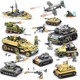 1061PCS Plastic & ABS 8 Soorten Staal Empire Themed Military War Bricks Toy For Children