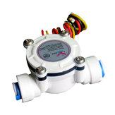 DN6 G1/4 PE水道メーター流量センサーカウンターインジケーターディスペンサー流量計0.3-10L /分