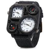 SHIWEIBAO Moda creativa quadrante grande bussola tela cinturino 5ATM orologio da uomo al quarzo impermeabile
