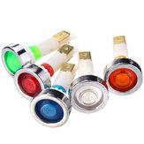 12V 10mm LED Indicador Lámpara Piloto de tablero de instrumentos Tablero de instrumentos Luz de advertencia