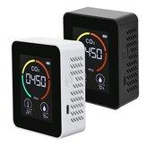 3 в 1 CO2 воздуха Монитор Детектор углекислого газа Датчик LCD Цифровой Дисплей 5000PPM Температура и влажность Датчик Тестер
