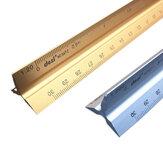 DEZI Régua Triangular Liga de Alumínio Régua Reta Roupas Arquitetônicas Design Ferramenta de Medição de Desenho de Engenharia para Estudantes Escritório