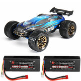 JLB Racing J3 Speed w / 2 Battery 120A Upgraded 1/10 2.4G 4WD Truggy RC Car Truck Vehicle RTR Model