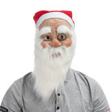 Christmas Party Home Decoration Santa Claus Maska Z Brodą Cosplay Zabawki Rekwizyty